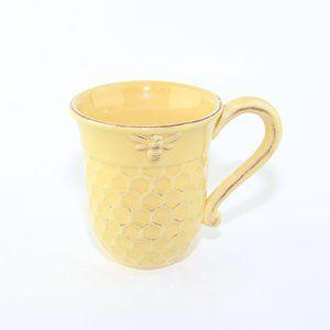 Yellow Honeycomb Ceramic Coffee Mug